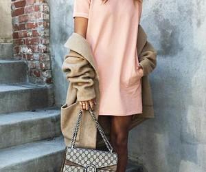 bag, dress, and style image