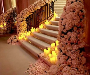 candles, interior, and flowers image