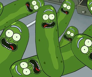 cartoon, rick and morty, and pickle rick image