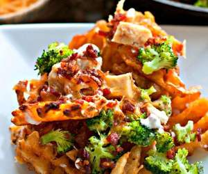 broccoli, cheese, and fries image