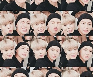 bts, jimin, and v image
