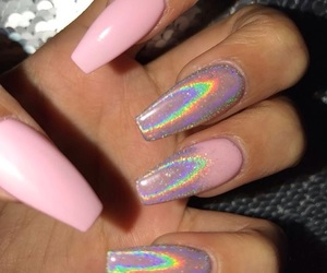 holographic, pink, and style image