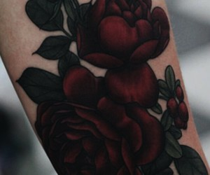 roses, tattoo, and tumblr image