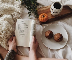 autumn, cozy, and book image