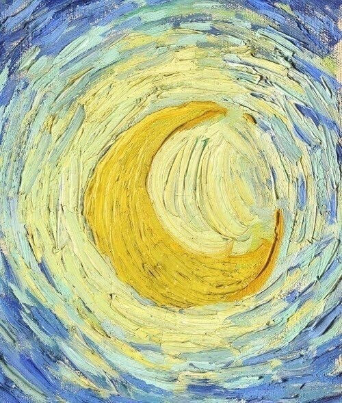 art, van gogh, and moon image