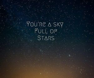 stars, coldplay, and sky image