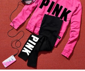 outfit, pink, and tumblr image