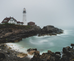 coast and lighthouse image