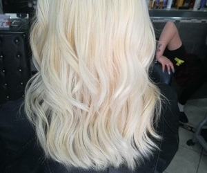 blonde, hair, and platinum image