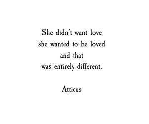atticus, love, and quote image