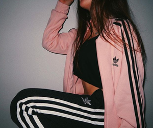 adidas, girl, and pink image