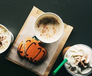 starbucks, coffee, and autumn image