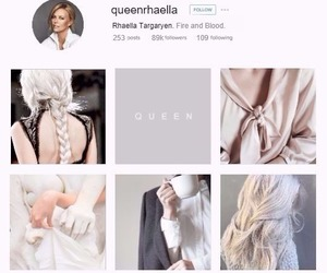 house targaryen, instagram profile, and rhaella targaryen image