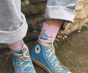 blue, converse, and pink image