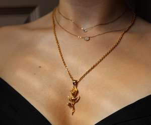 necklace, jewelry, and gold image