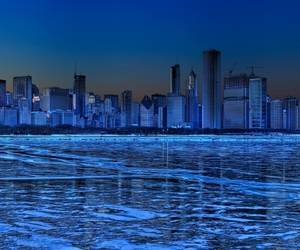 city, blue, and chicago image