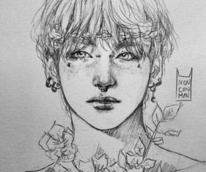 deviantart, art drawing, and v taehyung image