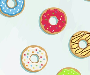 donuts, food, and lové image