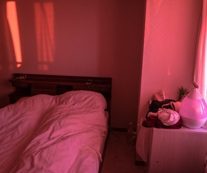 aesthetic, bedroom, and red image