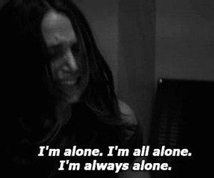 alone, sad, and depressed image