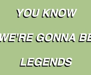 green, aesthetic, and legends image