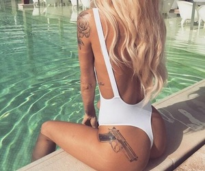 summer, body, and tattoo image