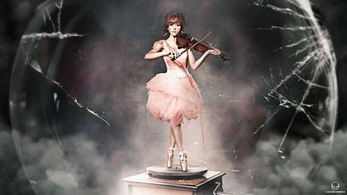 lindsey stirling, violin, and shatter me image