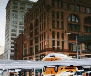 art, buildings, and rain image
