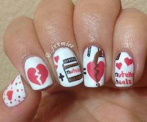 forever, heart, and nails image