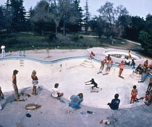 skate, skateboard, and retro image