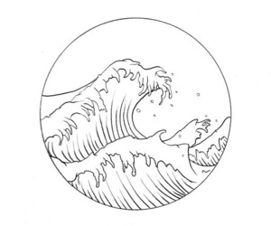 waves, ocean, and water image