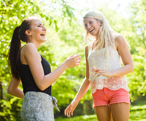 blond, shorts, and smile image