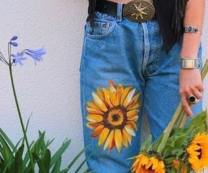 style, sunflower, and fashion image