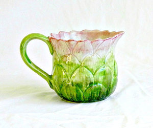 artichoke, hand painted, and pink and green image