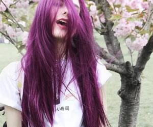 colours, hair, and violet image