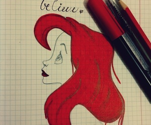animated, ariel, and beautiful image
