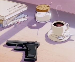 anime, aesthetic, and gun image