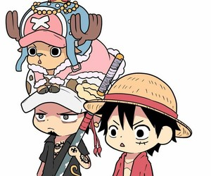 chopper, monkey d luffy, and friends image