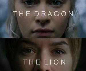 the night, the lion, and the dragon image