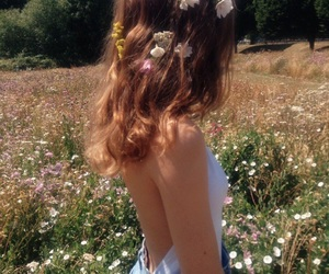 flower, girls, and hair image