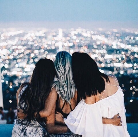 lights, friends, and friendship image