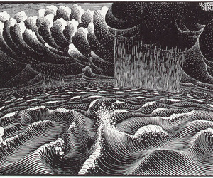 escher and waves image