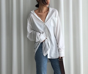 blouse, style, and white image