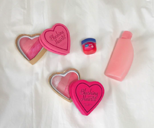 cosmetics, hearts, and kawaii image
