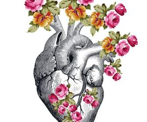 flowers, greek, and heart image