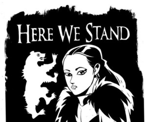 game of thrones, lyanna mormont, and house mormont image