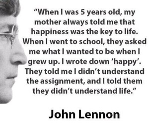 life, john lennon, and quote image