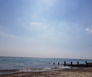 beach, sun, and brighton image