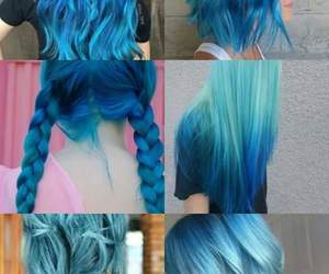 beautiful, blue hair, and hairstyle image