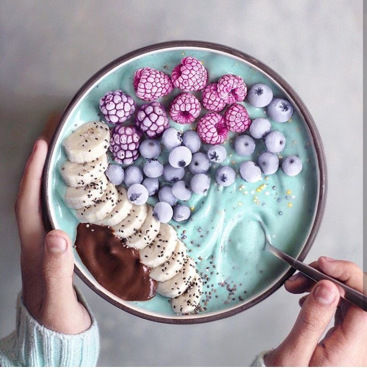 food, fruit, and blue image